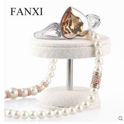 首飾架珠寶飾品展示架道具MB017麻布小號【藍星居家】