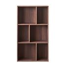 空櫃 收納架 收納櫃【收納屋】創意六格三層櫃-胡桃木色& DIY組合傢俱