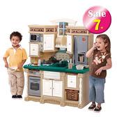 【A4-7363】三星廚房-美國STEP2兒童幼兒玩具扮演廚房遊戲屋 扮家家酒 收納置物 瓦斯爐電話附配件