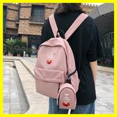 日系書包女古著感少女背包韓版尼龍丑萌書包芝麻街學生後背包☌zakka