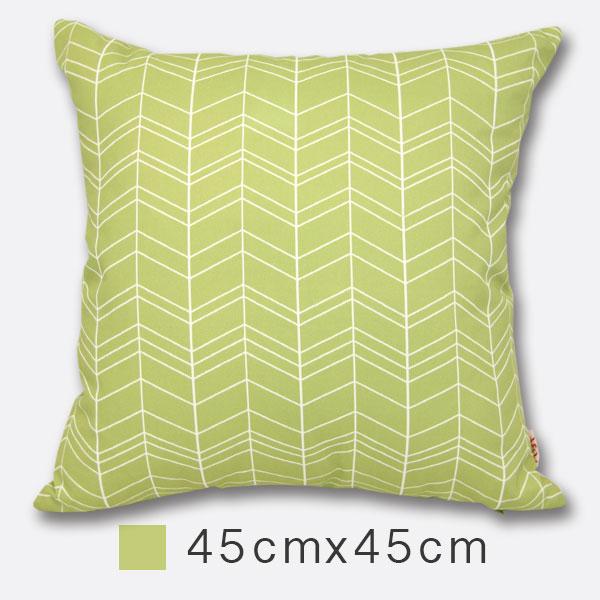 Udya印繪抱枕(含枕心)-摺浪綠 45cm×45cm 印刷風/ 設計款/ 小尺寸/ 靠墊/ 腰枕/ 午安枕【MSBT 幔室布緹】