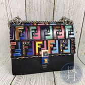 BRAND楓月 FENDI 芬迪 8M0381 彩色 FF紋 鍊條包 肩背包 精品 小包
