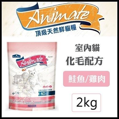 *KING WANG*BLUB BAY倍力 Animate天然貓鮮糧飼料 室內貓/化毛配方 2KG
