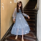 很仙的法國小眾連身裙女2019新款長裙超仙裙子春秋chic溫柔仙女裙 嬌糖小屋