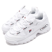Fila 鋸齒鞋 D-Formation 白 深藍 老爹鞋 韓妞必備 男鞋 女鞋 復古運動鞋【PUMP306】 1C110T125