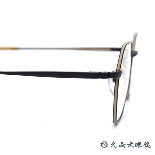 tonysame 日本眼鏡品牌 TS10648 013 (霧黑-黃) 多角形 鈦 近視眼鏡 久必大眼鏡