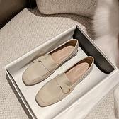 平底鞋樂福鞋女鞋一腳蹬小皮鞋英倫風粗跟平底單鞋