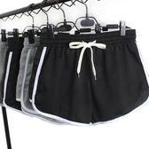 韓版運動短褲女跑步瑜伽闊腿熱褲顯瘦沙灘褲