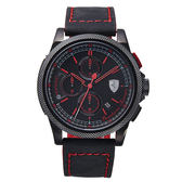 【僾瑪精品】Scuderia Ferrari 法拉利 x Formula Italia 2015紀念款-黑紅/44mm/FA0830273