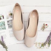 現貨 平底娃娃鞋推薦 星心公主 全真皮舒適好穿跟鞋 版型偏大 21-26 EPRIS艾佩絲-文青裸