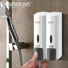 給皂機 家用酒店衛生間壁掛手動皂液器 賓館雙頭洗發水沐浴露盒