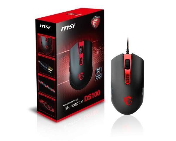 全新 MSI 微星 DS100 玩家級雷射電競滑鼠