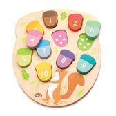 【美國Tender Leaf Toys】數字橡果益智拼圖(左右腦啟蒙學習教具)