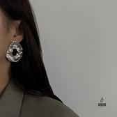 耳釘個性耳飾夸張隨性鏤空金屬耳環女氣質【愛物及屋】