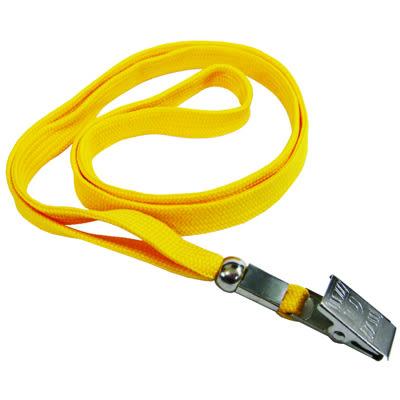 無印字識別證件吊式布帶/掛繩/識別帶 黃