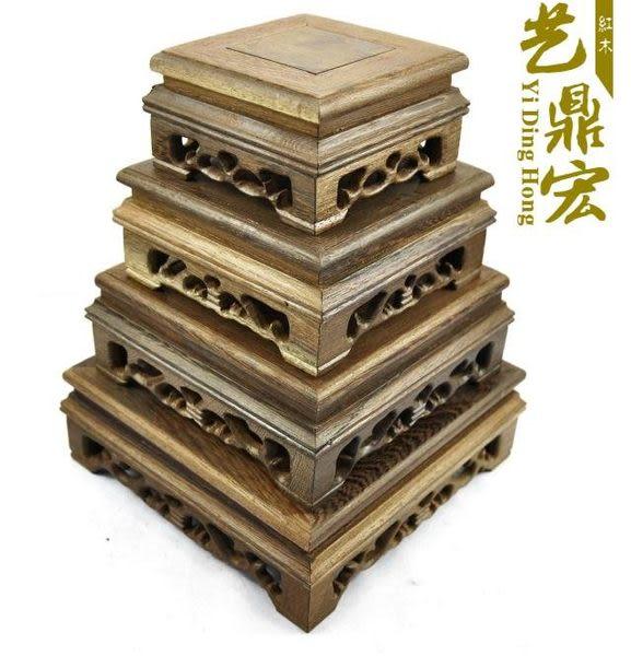 紅木工藝品雕刻*紫砂壺底座*奇石底座*正方雞翅木有腰