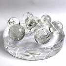 『晶鑽水晶』天然千層綠幽靈 七星陣 直徑10cm 21x26mm 水晶球 招財 招貴人 晶體乾淨 擺件