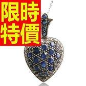 藍寶石 項鍊 墜子S925純銀-3.78克拉生日情人節禮物女飾品53sa35[巴黎精品]