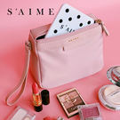 化妝包-質感手拿拉鍊化妝包 隨身包 旅行...