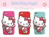 iaeShop iPhone5 5s 5c HELLO KITTY 3D立體天使 手機保護套 SANRIO正版