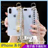 英文腕帶透明殼 iPhone XS Max XR iPhone i7 i8 i6 i6s plus 手機殼 水晶吊繩掛繩 影片支架 防摔軟殼