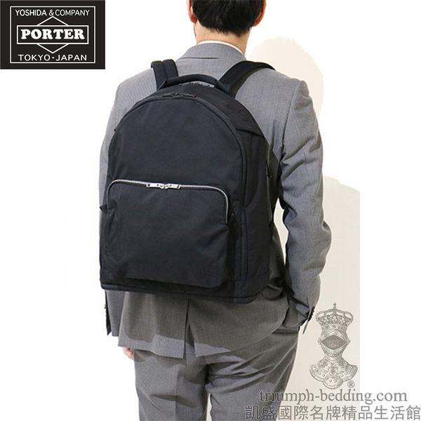 當季款【凱盛國際名牌精品】全新真品-YOSHIDA PORTER-全日本製 ASSIST DAY PACK-黑尼龍 中性手提大後背包