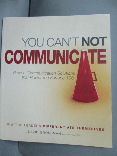 【書寶二手書T7/宗教_GCX】You Can t Not Communicate_David Grossman