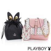 PLAYBOY- 2WAY水桶包 夢幻兔 Dream系列-甜美粉