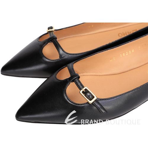 Salvatore Ferragamo PATTY C 尖頭芭蕾舞鞋(黑色) 1420171-01