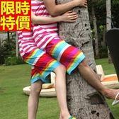情侶款海灘褲(單件)-防水衝浪陽光彩虹與眾不同男女沙灘褲66z12[時尚巴黎]
