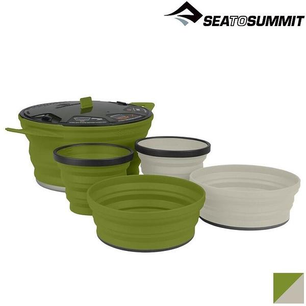 『VENUM旗艦店』Sea to Summit X-Set 31 X-摺疊餐具組31號(2.8L鍋、2碗、2杯) STSAXSETSS31