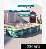 充氣游泳池 充氣游泳池家用嬰兒游泳桶兒童寶寶大型可折疊室內戶外水池