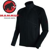 【MAMMUT 男Aconcagua 彈性刷毛外套《黑》】17860-0001/刷毛外套/刷毛衣★滿額送