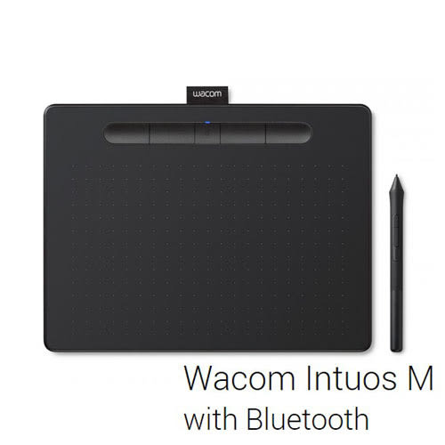Wacom Intuos COMFORT PLUS Medium CTL-6100WL/K0-CX 繪圖板 (藍牙版) - 黑色
