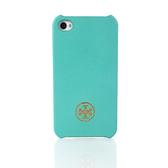 [破盤出清價]TORY BURCH印花塗層iPhone4/4S手機保護殼(藍綠色)151020