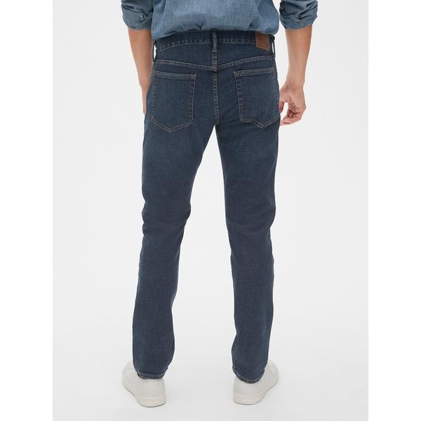 Gap男裝 舒適刺繡鬆緊牛仔長褲 321515-做舊牛仔