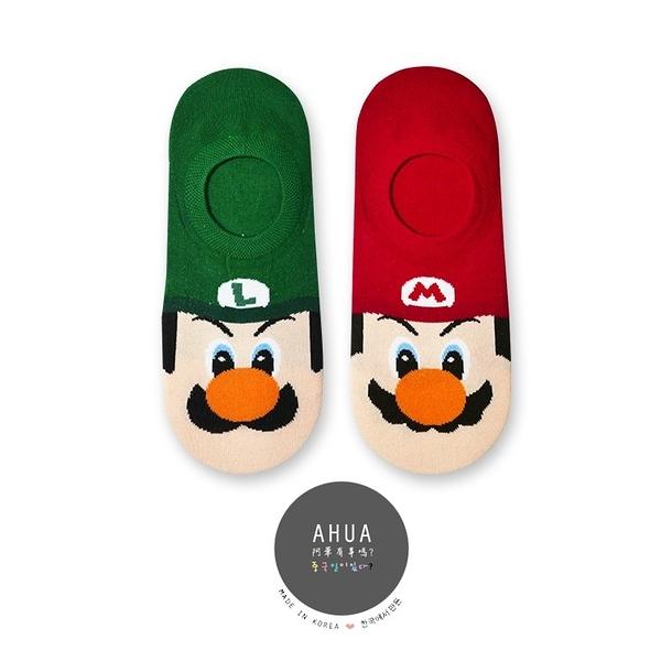 韓國襪子 馬力歐兄弟卡通圖案隱形襪 K0123❤️正韓貨 長襪短襪 韓妞必備  阿華有事嗎