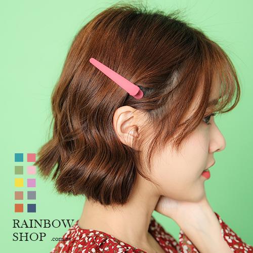 氣質多色磨砂感髮夾/鴨嘴夾-M-Rainbow【AB031402】