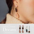 現貨◆PUFII-耳環 垂墜木系質感耳環...