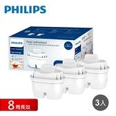 【Philips 飛利浦】超濾濾水壺濾芯(3入)-長效版AWP221