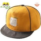 伊米倫寶寶鴨舌帽潮純棉春夏新款男女童休閒棒球帽嬰兒帽子軟帽檐
