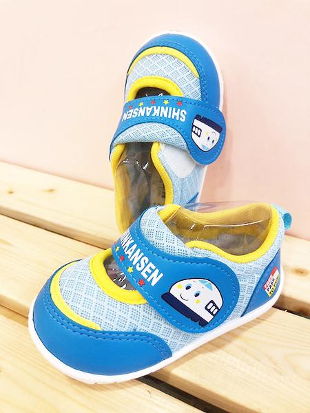 【震撼精品百貨】Shin Kan Sen 新幹線~台灣製新幹線正版兒童布鞋-水色(12.5~15號)