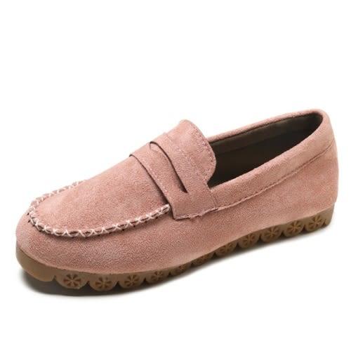 平底包鞋.簡約舒適素色百搭豆豆鞋.白鳥麗子