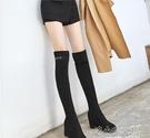 過膝長靴長筒內增高靴子女新款秋冬季瘦瘦彈...