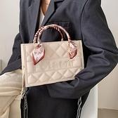 高級感斜跨包包女2021新款潮百搭時尚手提小方包網紅洋氣斜背包 韓國時尚週