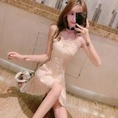 抹胸洋裝裙子仙女超仙森系小個子連身裙夏心機吊帶外穿性感抹胸公主蓬蓬裙春季特賣