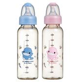 【奇買親子購物網】酷咕鴨KU.KU.PES防脹氣標準奶瓶240ML(藍色/粉色)