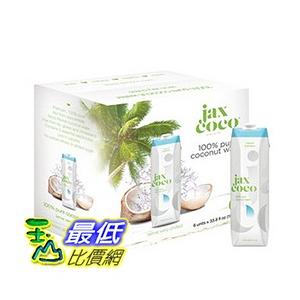 [COSCO代購] W109022 Jax CoCo 純天然青椰子水 1公升 X 6入