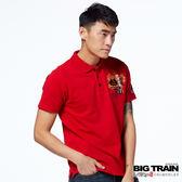 BIG TRAIN 伊達政宗POLO衫-男-紅色