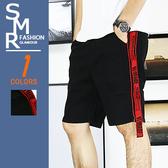 短褲-暗黑織帶短褲-夏日街頭舒適款《00417168》黑色【現貨+預購】『SMR』